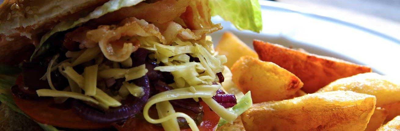 Augustine Hamburger with Fries